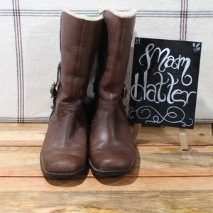 Ugg Bellvue Boots Brown and Cream 5745